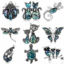 Cat Dragonfly Texture Animal Crystal Brooches Pins Jewellery Womens Wedding Gift