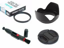 NY8 58mm Lens Hood Cap Cleaning Pen UV Filter For DSLR Digital Camera Camcorder