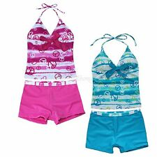 Girls Kids Bikini Tankini two piece Set Swimsuit Swimwear Bathing Suit Beachwear