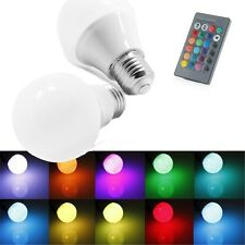 E27 3/5/10W RGB LED Lamp Color Changing Light Bulb 85-265V Remote Control