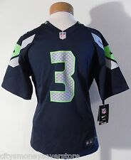 NWT Nike Russell Wilson Seattle Seahawks #3 Youth Home Jersey Navy MSRP$75