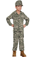 Army Marines Military Soldier Uniform Child Costume