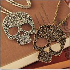 Women Charming Sexy Vintage Rock Gothic Skull Pendant Long Chain Necklace