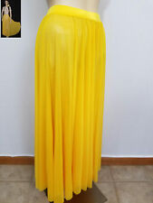 Yellow Full Circle Skirt Only Dance Costume Lyrical Ballet Adult Large Clearance