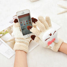 Hot sale Magic Winter Cute Cats Women Touch Screen Glove Texting Smartphone Knit