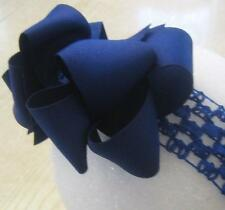 Royal Blue Boutique layered hair bow girls hairbows toddler big large double bow