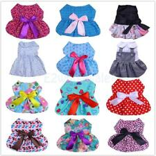 Pet Dog Dress Spring Summer Skirt Costume Holiday Party Dress Outfit Medium Size