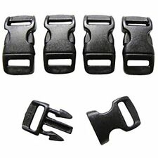 FMS 3/8 Inch Contoured Buckle - Side Release for Paracord Bracelets, Backpacks