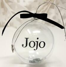 Personalised Pet Christmas Bauble Tree Decoration Pet Dog Cat Animal Name Gift M