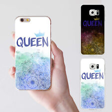 CO_ Elegant Flower Crown Queen Letter Print Case Cover for iPhone Samsung S4 Eag