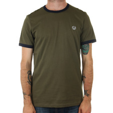 Fred Perry Ringer T Shirt - Iris Leaf