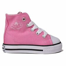 Dunlop Canvas High Top Trainers Infants Pink Sneakers Shoes Footwear
