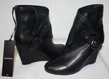 RUDSAK Tarin Wedge Ankle Leather boots Black NEW WITH BOX!