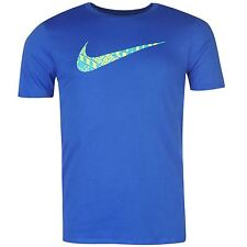 Nike Just Do It Swoosh T-Shirt Mens Royal Sportswear Top Tee Shirt