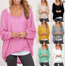 Plus Size Women Long Sleeve Pullover Ladies Casual Loose Baggy Tops Blouse Shirt