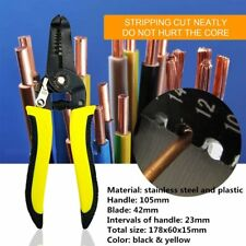 """7"""" Self-Adjusting Wire Stripping Pliers Multi-function Wire Crimping Tool G#"""