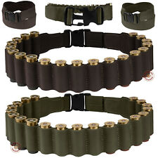 Shotgun Shell Belt Pouch 12 ga Leather Bandolier Cartridge Ammo Case