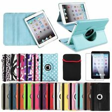 Leather Case Cover+LCD Film+Pouch For iPad Mini 1 2 3 w Retina Display