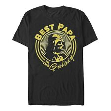 Star Wars Darth Vader Best Papa in the Galaxy Sun Mens Graphic T Shirt