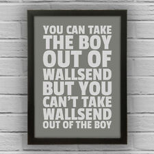 WALLSEND - BOY/GIRL FRAMED WORD TEXT ART PICTURE POSTER Newcastle Upon Tyne