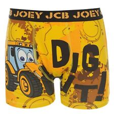 Joey JCB Boxer Shorts Underwear Childs Yellow Trunks Pants
