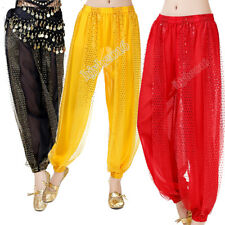 Belly Dance Costume Pants Harem Chiffon Indian Dance Bollywood Outfit Halloween