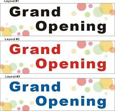 3ftX10ft Custom Printed Grand Opening Banner Sign, Bubble Background