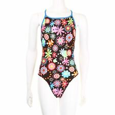 Maru Xeni Pacer Vision Back One Piece Swimsuit Swimming Costume Womens Black-
