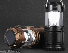 6 LED Hand Lamp Collapsible Solar Camping Lantern Tent Lights for Fishing Hiking