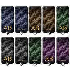 Personalised Carbon Fibre Effect Gel Case for Sony Xperia C/E/M Smartphone Phone