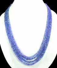 4/5/6 Multi Strings Blue Tanzanite 4mm Size Faceted Beads Necklace Gemstone