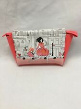 Elizabeth Arden New York Cosmetic Tote White Blue Pink Beauty Chic Makeup Bag