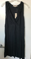 NWT ANN TAYLOR LOFT Dress Navy Blue Sz M Petite Empire Waist V Neck