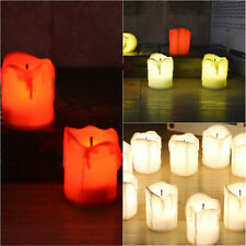 12 Led Tea Light Candle Tealight Flameless Flickering Battery Wedding Party Lamp