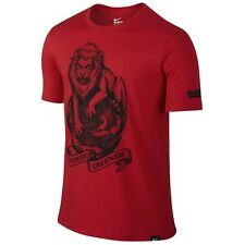 NWT Mens Nike Lebron Strive for Greatness Shirt Lion Globe Red Black XLARGE XL