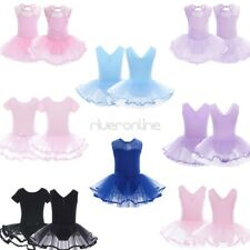 Kids Girl Tulle Ballet Gymnastics Sports Tutu Dancer Leotard Dancewear Dress New