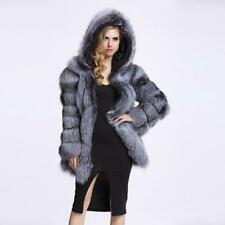 Women Winter Faux Fur Warm Long Coat Jacket Thick Hooded Parka Outwear Overcoat