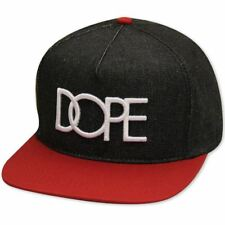 Dope Couture Denim Logo Snapback Black Red
