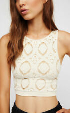 NEW Free People Intimately Seamless Medallion Crop Top Ivory XS/S & M/L $45.11
