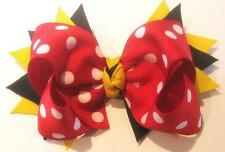 Minnie Mouse Hair Bow Disney Magical Red Dot Hairbow Girls Minnie Boutique Bows