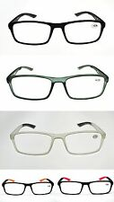 MT125 Retro Acetate & Rubber Reading Glasses 5 Colours with 9 Lens Strengths