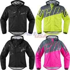 Icon PDX 2 Rain Jacket Long Sleeve Textile Waterproof Reflective