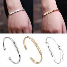 New Personalized Stainless Steel Engrave Bar Custom Cuff Bracelet Lovers Gift