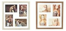 Photo Frame Picture Frame 4 photos 10x15 Walnut and oak limed Wooden