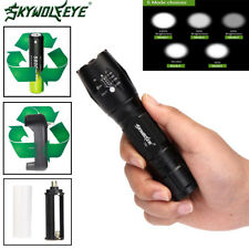 20000LM XML T6 5 Modes Waterproof Zoomable LED Flashlight 18650BTY Torch Lamp