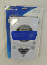Shower CD Player AM FM Radio by Memorex White Floor Stand Wall Mount MC1001 New