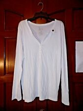Women's GAP Bowery Long Sleeve Solid White Shirt Size XXL 2XL NWT