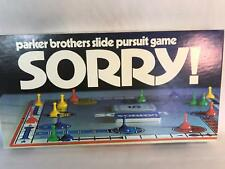 Vntage Sorry Board Game Parker Brothers 1972 100% Complete