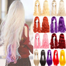 Female Ladies Cosplay Full Wig Deliacte Synthetic Long Curly Wavy Hair Wigs 8oip