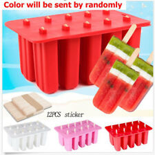 Frozen Ice Cream Pop Mold Popsicle Maker Lolly Mould Ice Tray+12 Sticks